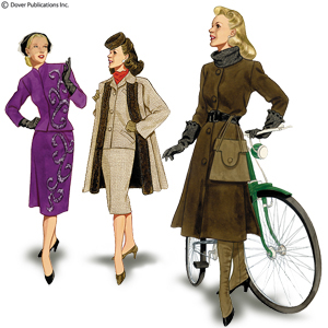 1940's Designer Clothing For Women Centuries and Decades s