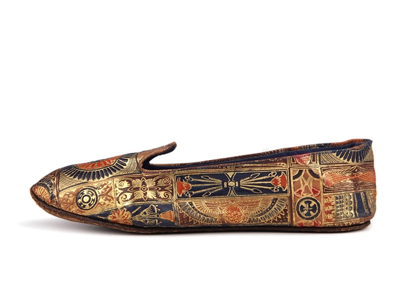 Shoe-Icons / Shoes / Leather sleepers printed with Egypt ...